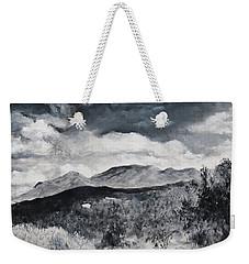 Black And White Landscape Weekender Tote Bag