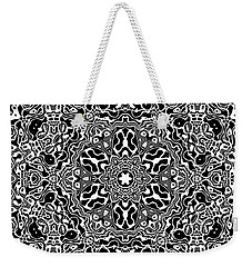 Black And White Mandala 34 Weekender Tote Bag