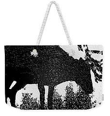 Black And White Moose Weekender Tote Bag