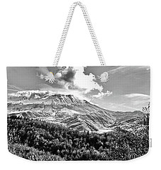 Black And White Of Coldwater Lake And Mt. St. Helens Weekender Tote Bag