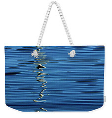 Black And White On Blue Weekender Tote Bag