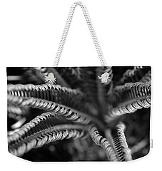 Black And White Palm Abstract 3624 Bw_2 Weekender Tote Bag