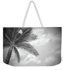 Weekender Tote Bag featuring the digital art Black And White Palm by Darren Cannell