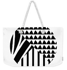 Black And White Patchwork Pattern Ball- Art By Linda Woods Weekender Tote Bag