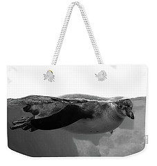 Black And White Penguin Weekender Tote Bag