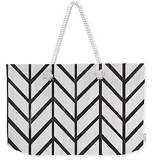 Weekender Tote Bag featuring the painting Black And White Quilt by Debbie DeWitt