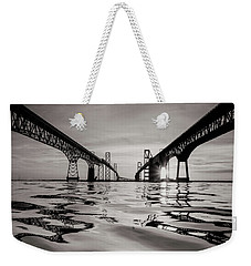 Black And White Reflections Weekender Tote Bag