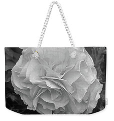 Black And White Rose Weekender Tote Bag
