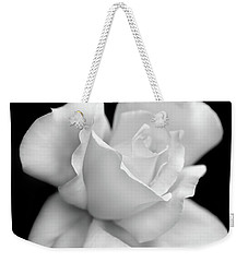 Weekender Tote Bag featuring the photograph Black And White Rose Flower by Jennie Marie Schell