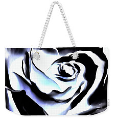 Weekender Tote Bag featuring the photograph Black And White Rose - Till Eternity by Janine Riley