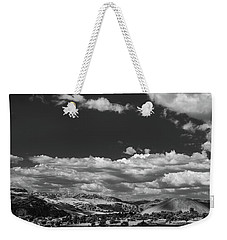 Weekender Tote Bag featuring the photograph Black And White Small Town  by Jingjits Photography