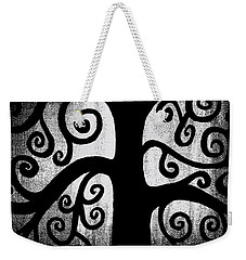 Black And White Tree Weekender Tote Bag by Angelina Vick