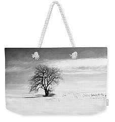 Black And White Tree In Winter Weekender Tote Bag