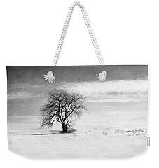 Black And White Tree In Winter Weekender Tote Bag by Brooke T Ryan