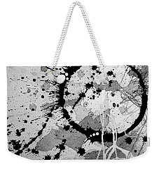 Black And White Two Weekender Tote Bag
