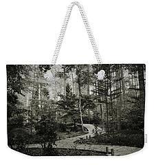 Black And White Vintage Edit -walk In Peace  Weekender Tote Bag
