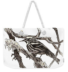 Black-and-white Warbler Weekender Tote Bag