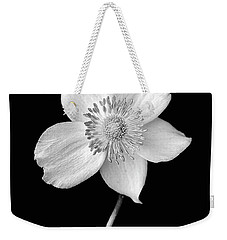 Black And White Wildflower Weekender Tote Bag