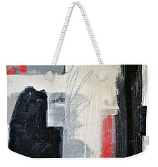 Black And White With Lines Weekender Tote Bag