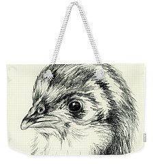 Black Australorp Chick In Charcoal Weekender Tote Bag