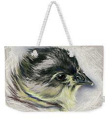 Black Australorp Chick Portrait Weekender Tote Bag by MM Anderson