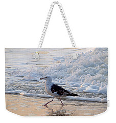Weekender Tote Bag featuring the photograph Black-backed Gull by  Newwwman