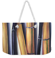 Black And Gold Bamboos Weekender Tote Bag by Randy Burns
