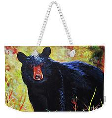 Black Bear Weekender Tote Bag by Anne Marie Brown