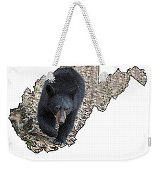 Black Bear Coming Close Weekender Tote Bag