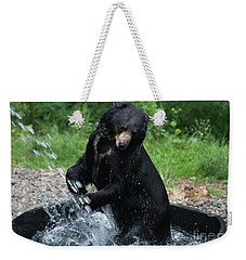 Black Bear Enjoys His Shower Weekender Tote Bag