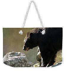 Black Bear On The Rocks Weekender Tote Bag
