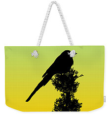 Black-billed Magpie Silhouette - Special Request Background Weekender Tote Bag