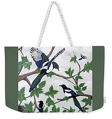 Black Billed Magpies Weekender Tote Bag