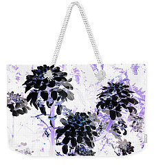 Black Blooms I I Weekender Tote Bag