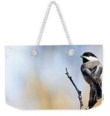 Black-capped Chickadee Weekender Tote Bag