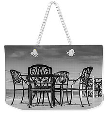 Black Cast Iron Seats Weekender Tote Bag