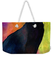 Black Cat 9 Watercolor Painting Weekender Tote Bag