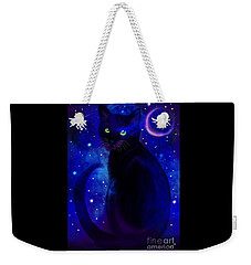 Weekender Tote Bag featuring the painting Black Cat Blues  by Nick Gustafson