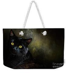 Black Cat Portrait Weekender Tote Bag