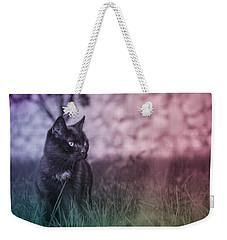 Black Cat Weekender Tote Bag by Silvia Bruno