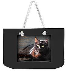 Black Cat The Way Weekender Tote Bag