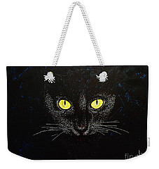Black Cat Weekender Tote Bag by Viktor Lazarev