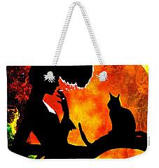 Black Cats Weekender Tote Bag by Saundra Myles