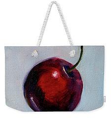Weekender Tote Bag featuring the painting black Cherry by Nancy Merkle