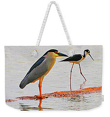 Black Crown Night Heron And Stilt Weekender Tote Bag