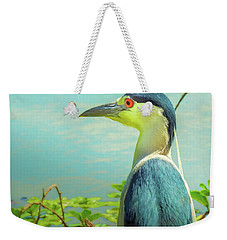 Black-crowned Night Heron Digital Art Weekender Tote Bag
