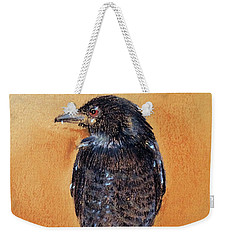 Weekender Tote Bag featuring the painting Black Drongo  by Jasna Dragun