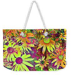 Black-eyed Susan   Abstract  Weekender Tote Bag