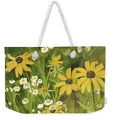 Black-eyed Susans In A Field Weekender Tote Bag by Laurie Rohner