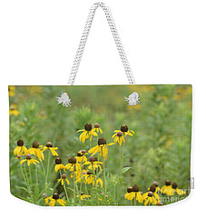 Weekender Tote Bag featuring the photograph Black-eyed Susans by Maria Urso
